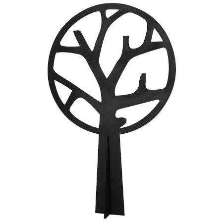 Διακοσμητικό αφαιρετικό δέντρο ξύλινο Μαύρο - Λευκό 160cm