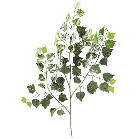 Διακοσμητικό κλαδί με φύλλα Σημύδας 70cm