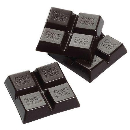 HQ Σετ 3τχ διακοσμητικά κομμάτια μαύρης  σοκολάτας 4,5x4,5cm