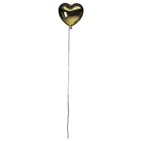 Διακοσμητικό μπαλόνι καρδιά Χρυσό μεταλλικό 18cm