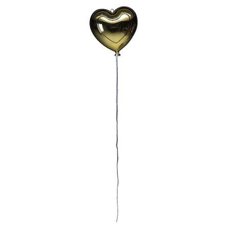 Διακοσμητικό μπαλόνι καρδιά Χρυσό μεταλλικό 20cm