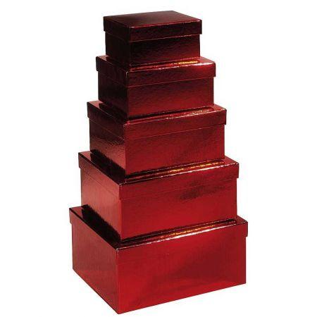 Σετ 5τμχ. Κουτιά δώρου κόκκινα