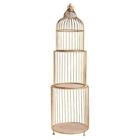 Σετ 3τχ Διακοσμητικά κλουβιά Χρυσά 40x140cm