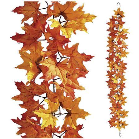 Διακοσμητική γιρλάντα με φύλλα Σφενδάμου 180cm