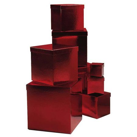 Σετ 8τμχ. Κουτιά δώρου κόκκινα