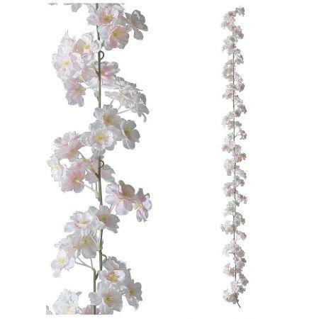 Διακοσμητική γιρλάντα με άνθη κερασιάς Ροζ 180cm