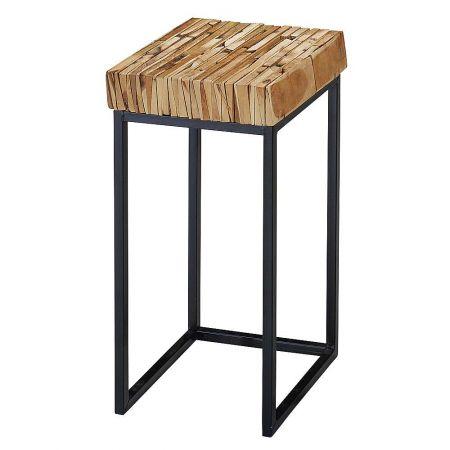 Διακοσμητικό τραπεζάκι - σταντ με ξύλινο καπάκι , 51cm