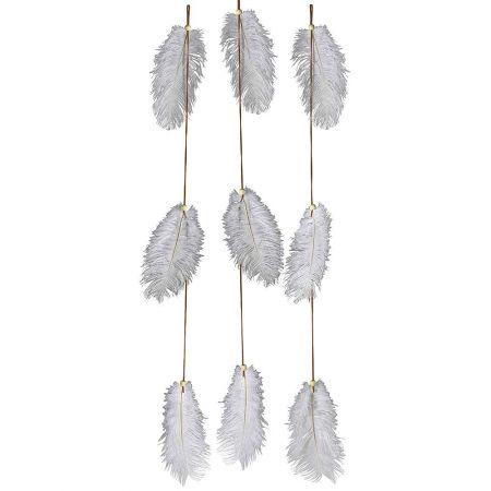 Σετ 3τχ Γιρλάντες με φτερά 70cm