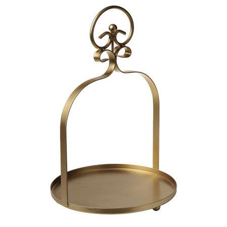 Μεταλλικό κρεμαστό ράφι Χρυσό 35x22cm