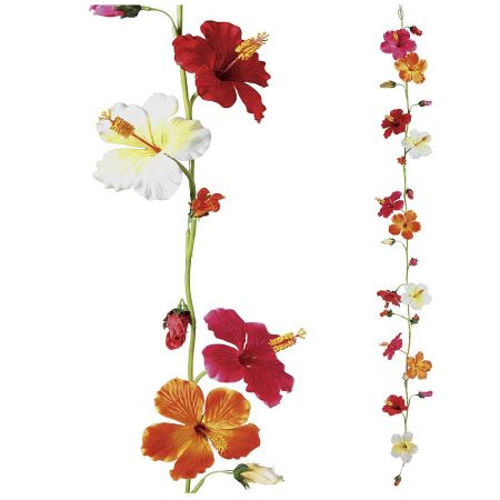 Διακοσμητική γιρλάντα με άνθη ιβίσκου 180cm