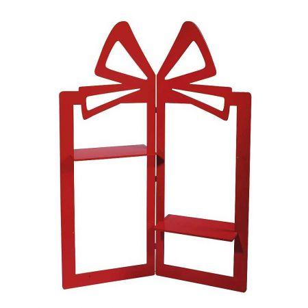 Σταντ σε σχήμα δώρου κόκκινο, 160x120cm
