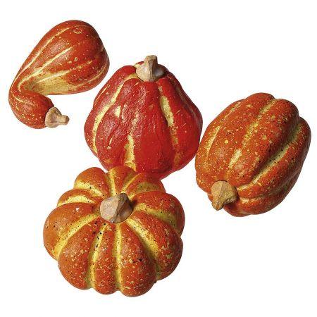 Σετ 4τχ κολοκύθες Πορτοκαλί 11-14cm