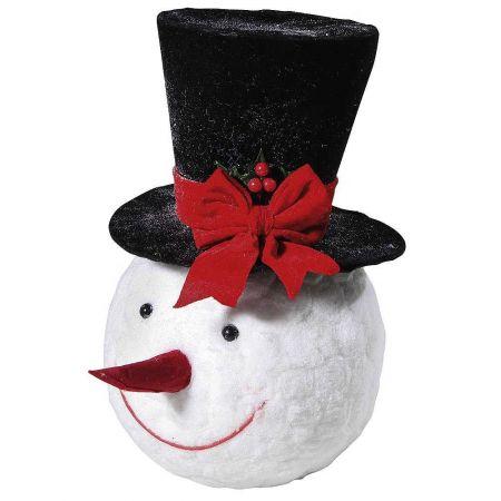 Διακοσμητικό Κεφάλι χιονάνθρωπου, 38cm
