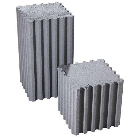 Σετ 2τχ βάθρα - κολόνες με όψη μπετόν 30x30x55cm, 30x30x30cm