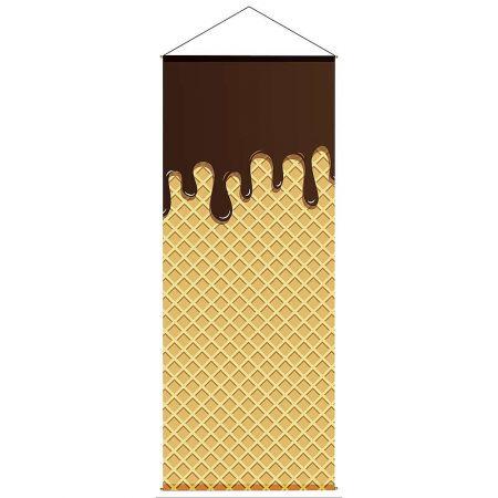 Διακοσμητική αφίσα από ύφασμα - Waffle 100x250cm