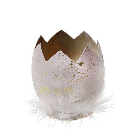 Πασχαλινό αυγό σπασμένο με φτερά 14cm