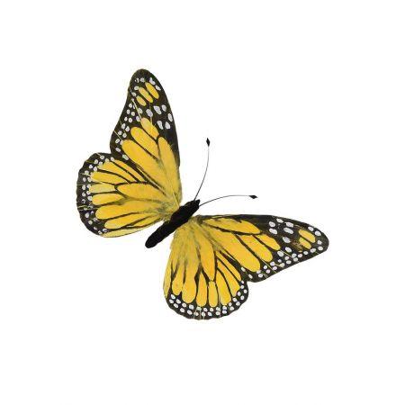 Διακοσμητική πεταλούδα κίτρινη , 76χ40cm