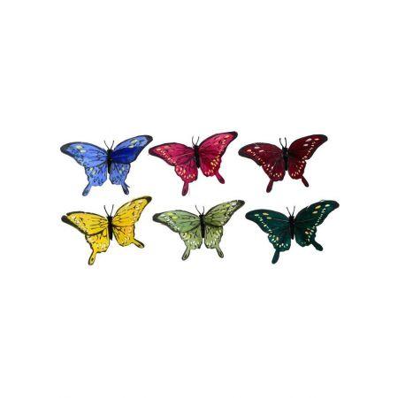 Σετ 12τχ διακοσμητικές πεταλούδες, 13x7 cm