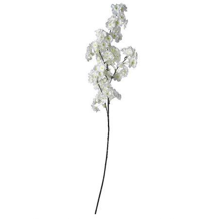 Διακοσμητικό κλαδί με άνθη κερασιάς Λευκά 105cm