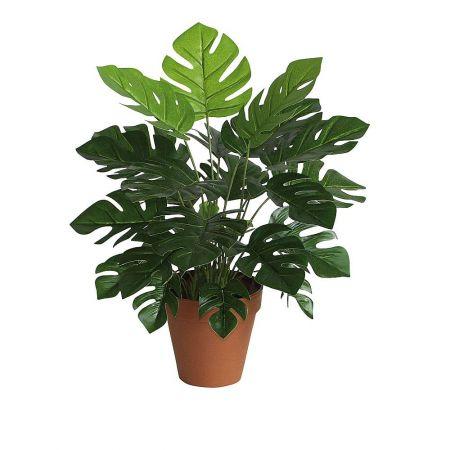 Τεχνητό εξωτικό φυτό Μονστέρα σε γλάστρα 45cm