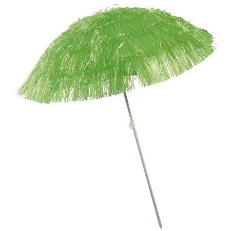 Διακοσμητική ομπρέλα παραλίας Χαβάη Πράσινη 140x180cm