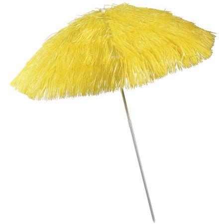 Διακοσμητική ομπρέλα παραλίας Χαβάη Κίτρινη 140x180cm