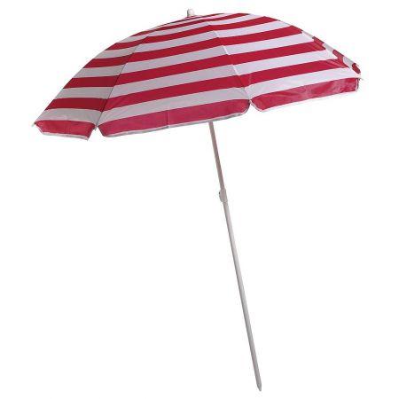 Διακοσμητική ομπρέλα θαλάσσης Λευκή - Κόκκινη 140x180cm