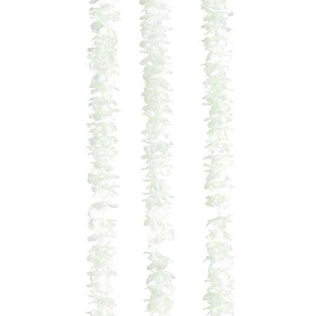 Σετ 3τχ Διακοσμητική γιρλάντα με ροδοπέταλα Λευκή 260cm