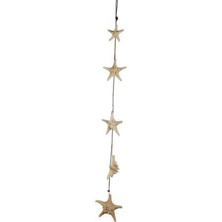 Διακοσμητική γιρλάντα με 5 φυσικούς αστερίες 150cm