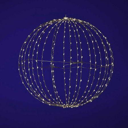 Φωτιζόμενη μπάλα κατασκευασμένη από συρμάτινο σκελετό στον οποίο έχουν προσαρμοστεί λαμπάκια microLED COPPER.