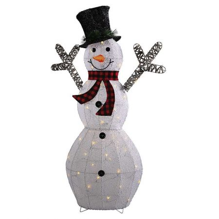 Διακοσμητικός χιονάνθρωπος με LED, 115cm