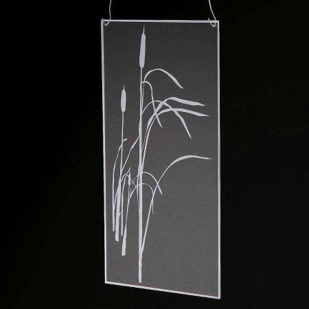 Ακρυλικό κάδρο με άνθη , 25x40cm