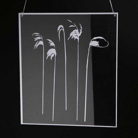 Ακρυλικό κάδρο με άνθη , 30x35cm