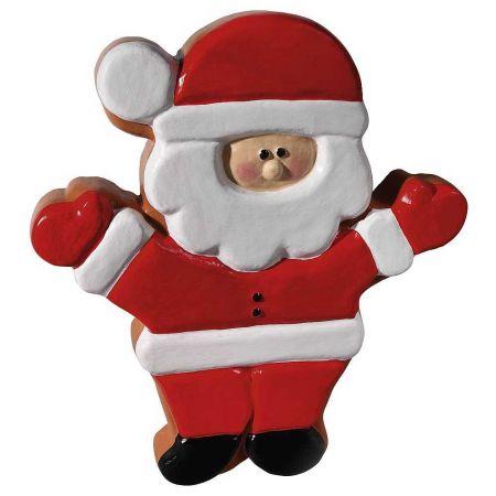 Διακοσμητικό ζαχαρωτό Άγιος Βασίλης, 43x50x6 cm