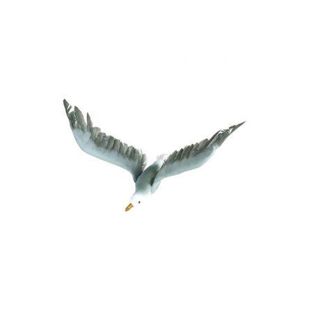 Διακοσμητικός γλάρος που πετάει Λευκό - Γαλάζιο 45x25cm