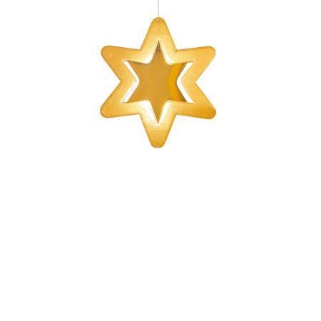 Διακοσμητικό χάρτινο χρυσό αστέρι, κρεμαστό 28cm