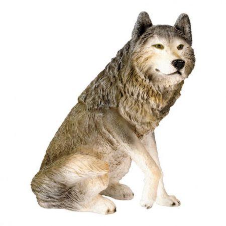 Διακοσμητικός λύκος καθιστός 65x60x40cm