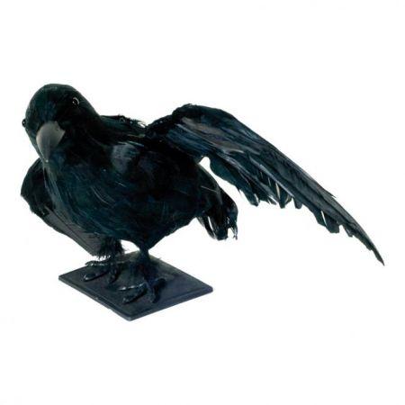 Διακοσμητικό κοράκι με ανοιγμένα τα φτερά 36x28x21cm