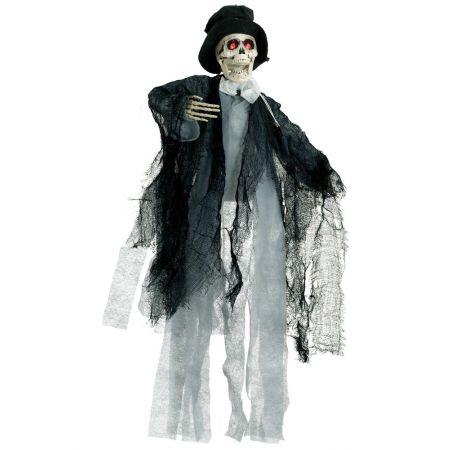 Διακοσμητικός σκελετός - φάντασμα φωτεινός με ήχο και κίνηση 50x20cm