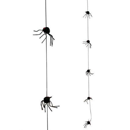 Διακοσμητική γιρλάντα με 5 αράχνες 180cm