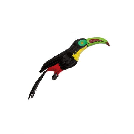 Διακοσμητικό τροπικό πουλί Τουκάν Μαύρο - Πράσινο 55cm