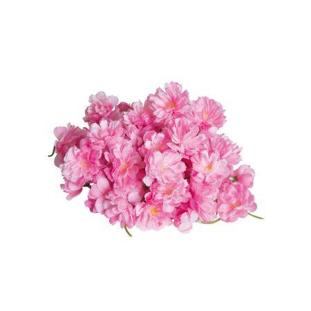 Σετ 72τχ διακοσμητικά άνθη κερασιάς Ροζ 4cm