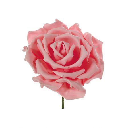 XL Διακοσμητικό άνθος τριαντάφυλλου foam Ροζ 50cm