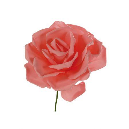 XL Διακοσμητικό άνθος τριαντάφυλλου foam Ροδακινί 50cm