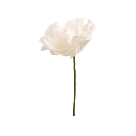 XL Διακοσμητικό άνθος παιώνιας foam Λευκό 30cm