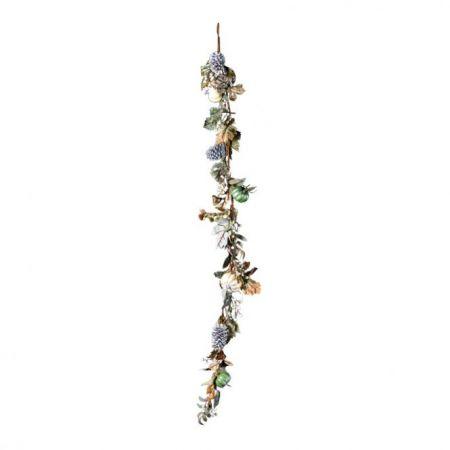Διακοσμητική γιρλάντα με κουκουνάρια και κολοκύθες, 180cm