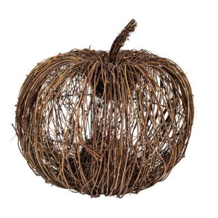 Διακοσμητική rattan κολοκύθα , 30cm