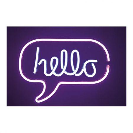 Φωτιζόμενη επιγραφή -Hello- LED neon flex IP20 43x31cm