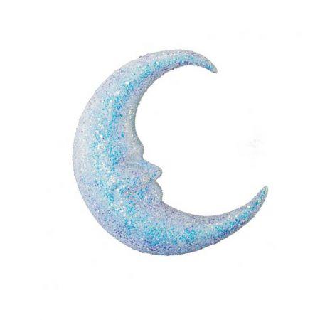 Διακοσμητικό φεγγάρι με glitter , 37cm