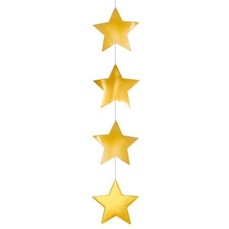 Διακοσμητική Χριστουγεννιάτικη χάρτινη γιρλάντα με αστέρια 105x18cm
